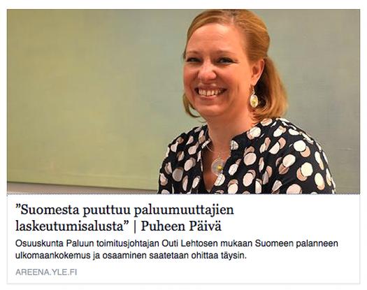Kuuntele: Paluumuuttajat puhuttavat Yle Puheella